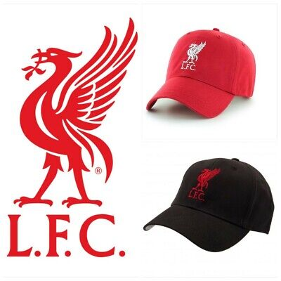 Liverpool Fc Crest Baseball Cap Lfc Embroidered Football Badge Red Black Hat