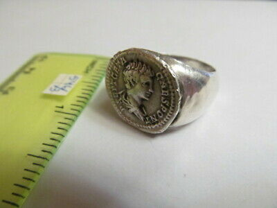 Ancient silver ring from Geta Rome №546/3(copy)