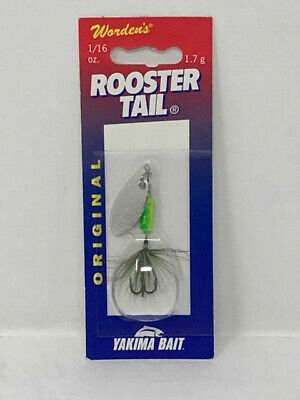Orange Rooster Tail Spinner Fishing Lure NEW Ultra Flash Premium Chartreuse