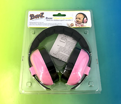 NEW! Banz The Protection Expert Mini Earmuffs Pink EM010 (3 Month +) #2416