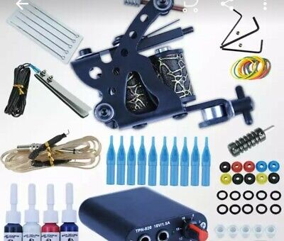 Tattoo Machine  Power Needles Ink Set Completo Tattoo Equipment kit aghi nuovo!
