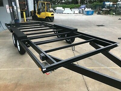 NEW 3Tonne Trailer Tandem axle 5MX2.4M caravan enclosed tiny house frame chassis