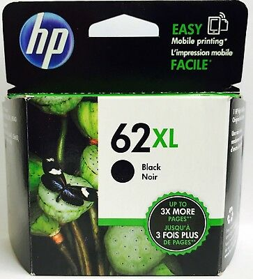 New Genuine HP 62XL Black Ink Cartridge Envy 5540 5541 Officejet 5740 5741 5742
