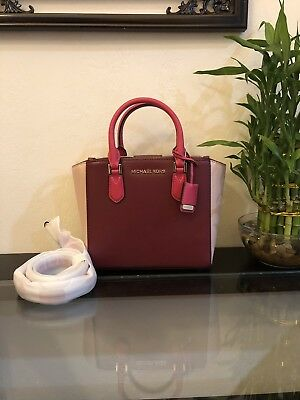4438d9122a28 Nwt Michael Kors Carolyn Small Satchel Tote Shoulder Bag Smooth Leather $328