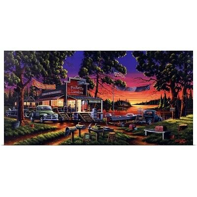 Poster Print Wall Art entitled Small Town Bass Tournament