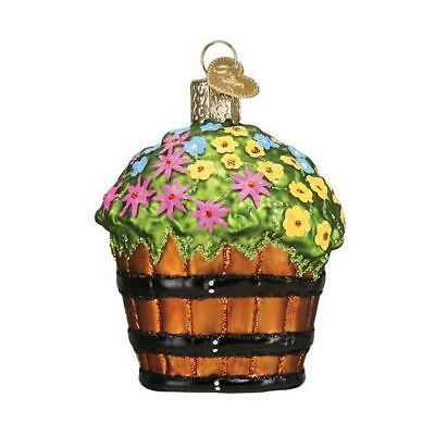 Merck Old World Christmas  Whiskey Barrel with Flowers  Ornament 36263 New