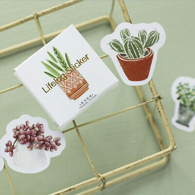 45Pcs/lot Cute Cactus Paper Sticker Decor DIY Ablum Diary Scrapbooking Sticker