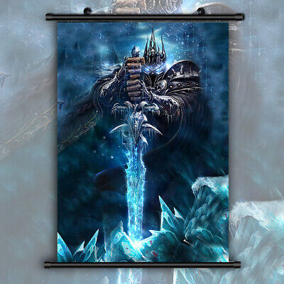 World of Warcraft Lich King Death Knight Print Wall Poster Scroll Home Decor