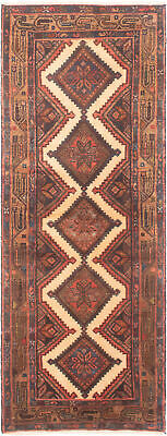 """Hand-knotted Persian Carpet 2'6"""" x 6'9"""" Koliai Traditional Wool Rug"""