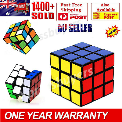 Melbourne Stock Magic Cube 3x3x3 Super Smooth Fast Speed Rubix Rubiks Puzzle OZ