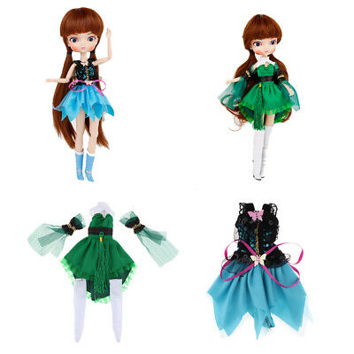 2pcs Fashion Doll Outfits BJD Doll Dress Lolita Outfits Cosplay for BBgirl