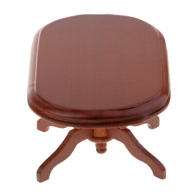 1/6 1/12 Dollhouse Table End Table Dining Table Miniature Wood Furniture Red