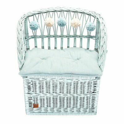 NEW CHILDRENS Wicker Seat With Trunk - Dirty Mint