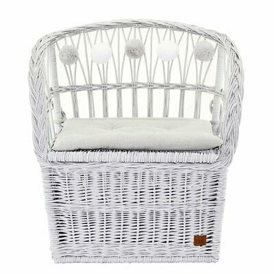 NEW CHILDRENS Wicker Seat With Trunk - Grey
