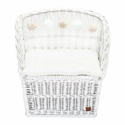 NEW CHILDRENS Wicker Seat With Trunk - White