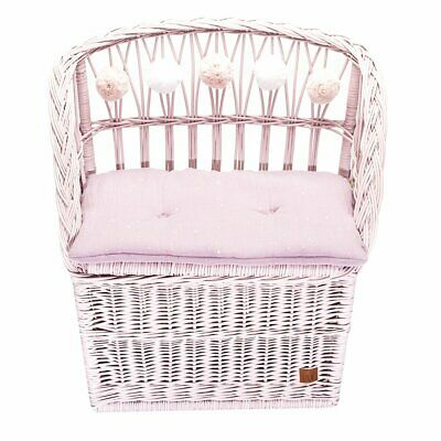 NEW CHILDRENS Wicker Seat With Trunk - Dusty Pink