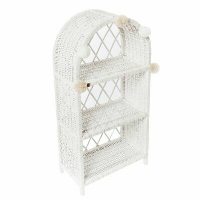 NEW CHILDRENS Large Wicker Bookshelf - White (Arriving March 2020)