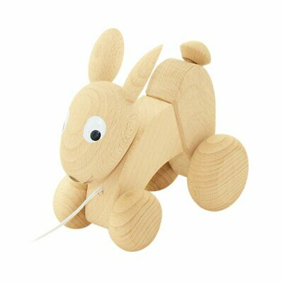 NEW CHILDRENS Wooden Pull Along Rabbit - Luna