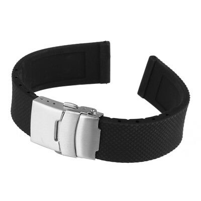 High Quality Silicone Rubber Watch Band Strap Replacement Stainless Steel Buckle