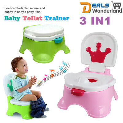 Training Potty Trainer Safety Kids Baby Toddler Toilet Cute Music Seat Chair