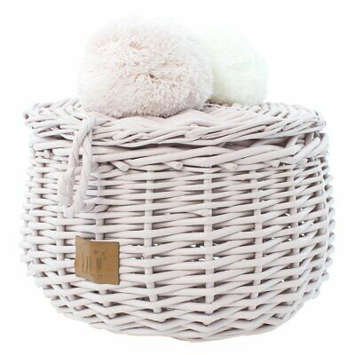 NEW CHILDRENS Wicker Basket Small - Dusty Pink