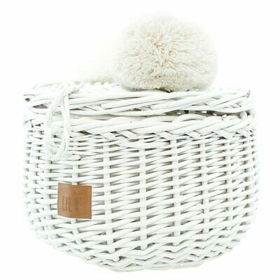 NEW CHILDRENS Wicker Basket Small - White