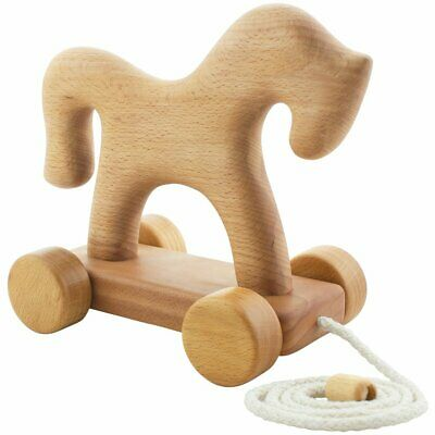 NEW CHILDRENS Wooden Pull Along Horse - Napoleon