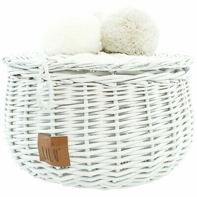 NEW CHILDRENS Wicker Basket Large - White