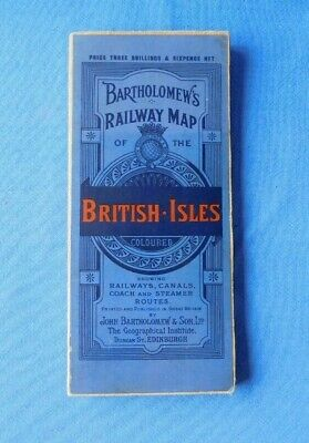 ?1920's Bartholemews cloth backed Railway Map of the Britain (? Pre-Grouping)