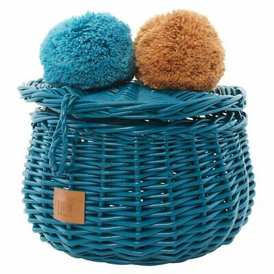 NEW CHILDRENS Wicker Basket Small - Turquoise
