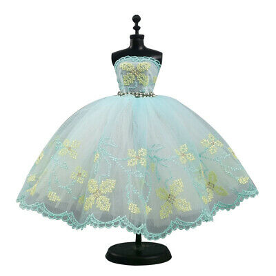 Fashion Yellow Flower Doll Clothes Outfits Dollhouse Dress For 11.5in. Doll Kids