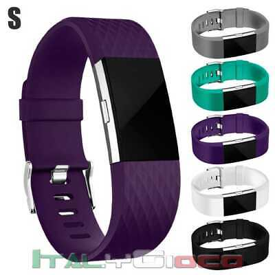 Band Replacement Wristband Strap TPU Silicone for Fitbit Charge 2 Purple Size S