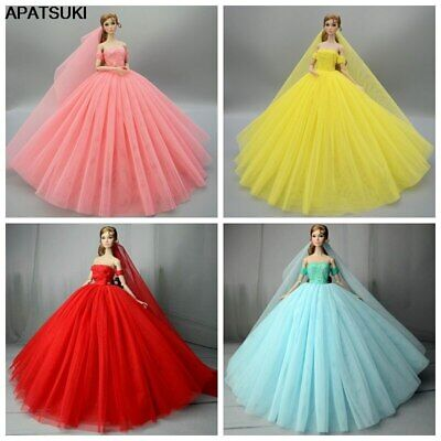 High Quality Wedding Dress Princess Doll Clothes Party Gown For 11.5in. Doll Toy