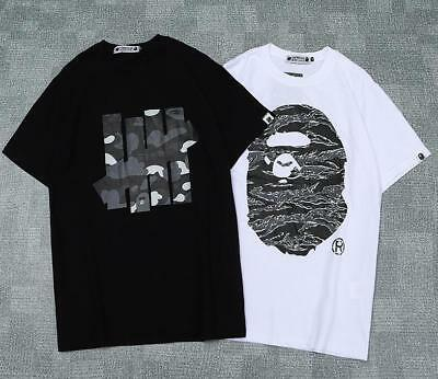 dd7ecd699 Men's Undefeated Giant A Bathing Ape Cotton Sports Hip-hop Bape T-shirt M
