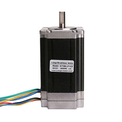 1PC 57BLF03 Brushless DC Motor 250W 24V Nema 23 CNC Router LONGS MOTOR