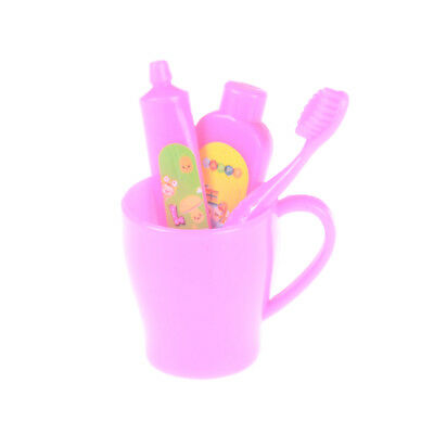 4Pcs Doll Accessories Four sets toothbrush Tooth cup toothpaste for  doll@_WK
