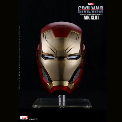 Marvel Captain America Civil War 1/1 Iron Man MK46 Helmet Automatic On-off Model