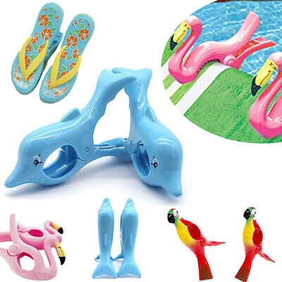 Beach Towel Clips Cartoon Plastic Quilt Laundry Sunbed Lounger Clothes Pegs 2PCS