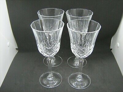 Quality glass crystal set 4 wine glasses 19 1/2cm high