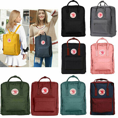 Unisex Fjallraven Kanken Shoulder Travel School bag Zaino causale 16 / 20L ES