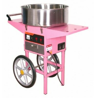 Candy Floss Making Machine Cart Pink Cotton Candyfloss Maker Party Commercial