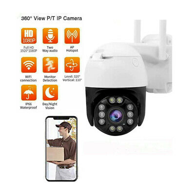 Telecamera Full Color Esterna Ip Camera 1080P Hd Motorizzata Ir It