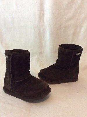 Girls Emu Brown Suede Waterproof Boots Size 7