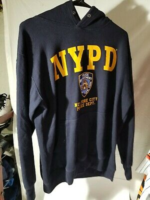 2cce7ccf NYPD NAVY BLUE Yellow Logo Badge New York Police Department T-Shirt ...