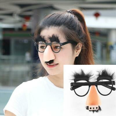 Novaty Glasses Mustache Fake Nose Clown Fancy Dress up Costume Props Funny IR