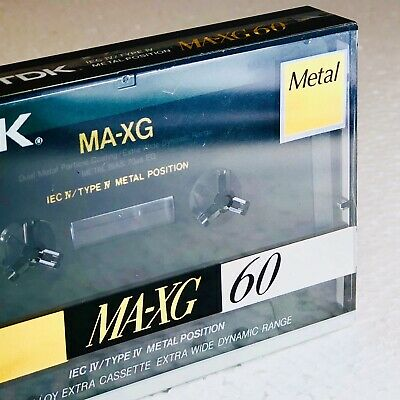 Tdk Ma-Xg 60 Cassette Tape Metal Alloy Extra New Pro Nos Hi-Fi Audio Deck Player