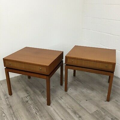 A Pair of Vintage Greaves And Thomas Tola side tables Bedside cabinets