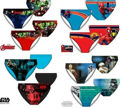 Boys swimming trunks briefs swimwear Avengers Star Wars Spiderman character
