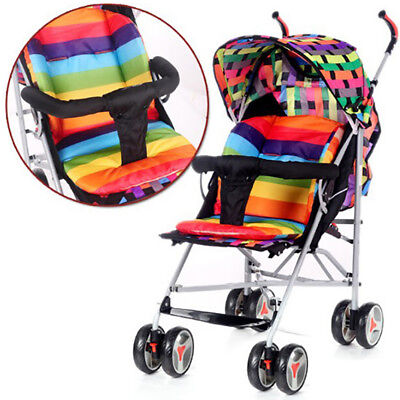 Baby Stroller seat Cushion Stroller Pad mattresses Pillow Cover  Thicken Pa RDR