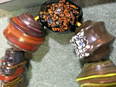 Venetian Antique Crumb End Of Day Glass African Trade Beads Lot of 25